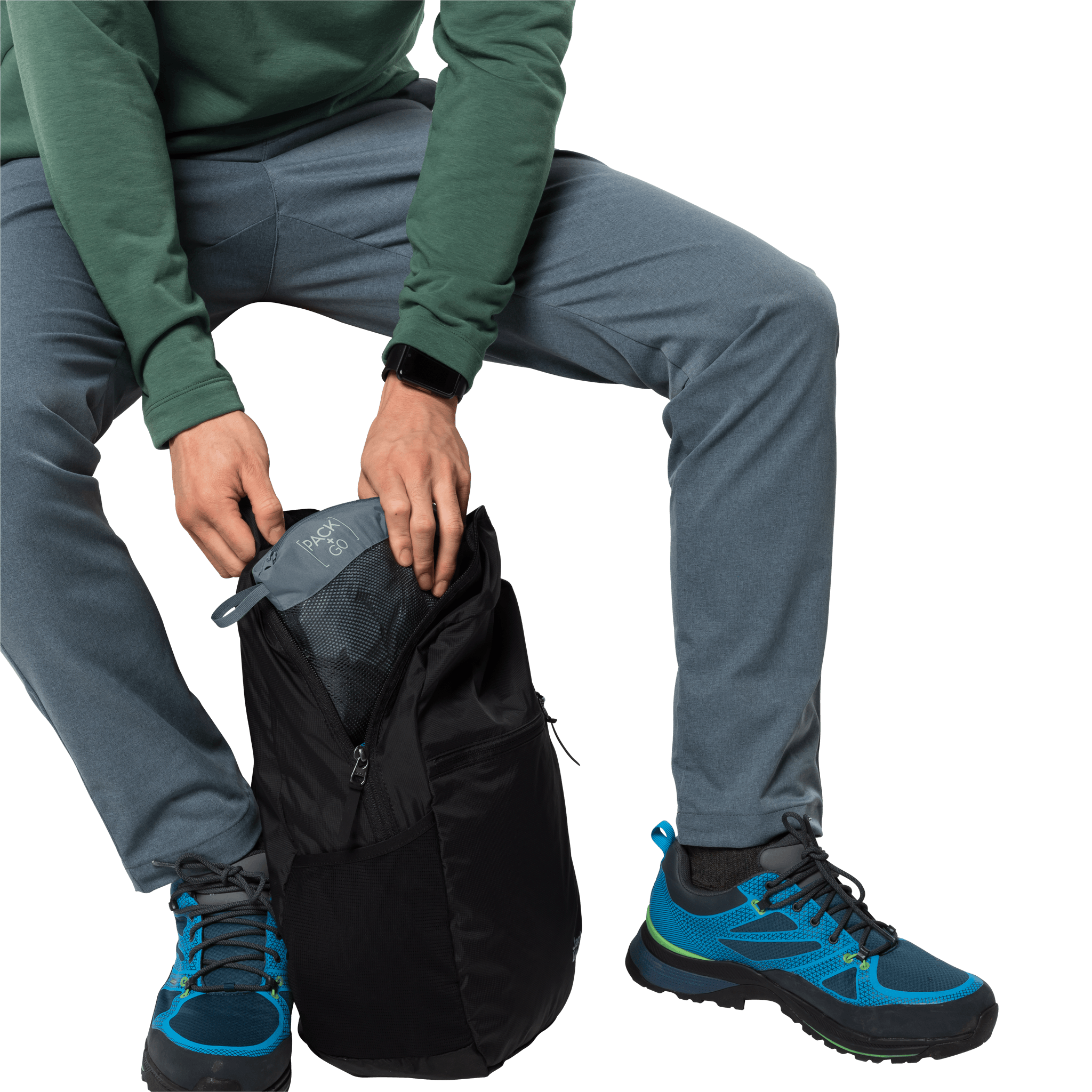 Storm Grey Ultralight And Packable Jacket Men