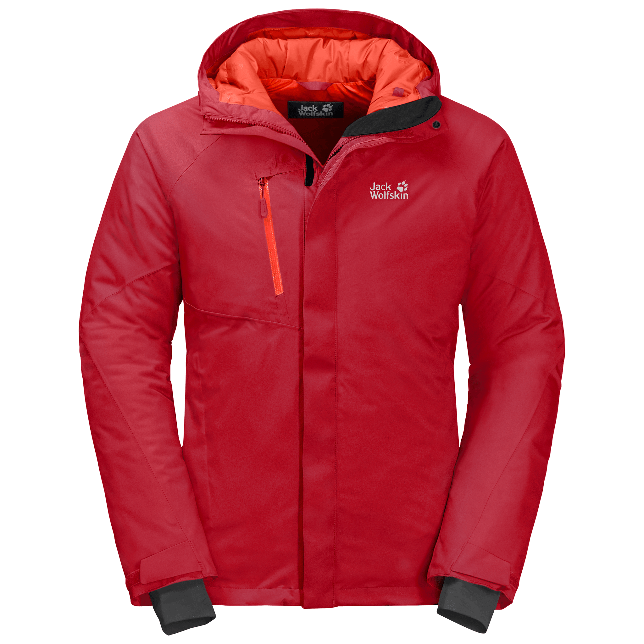 Red Lacquer Insulated Jacket