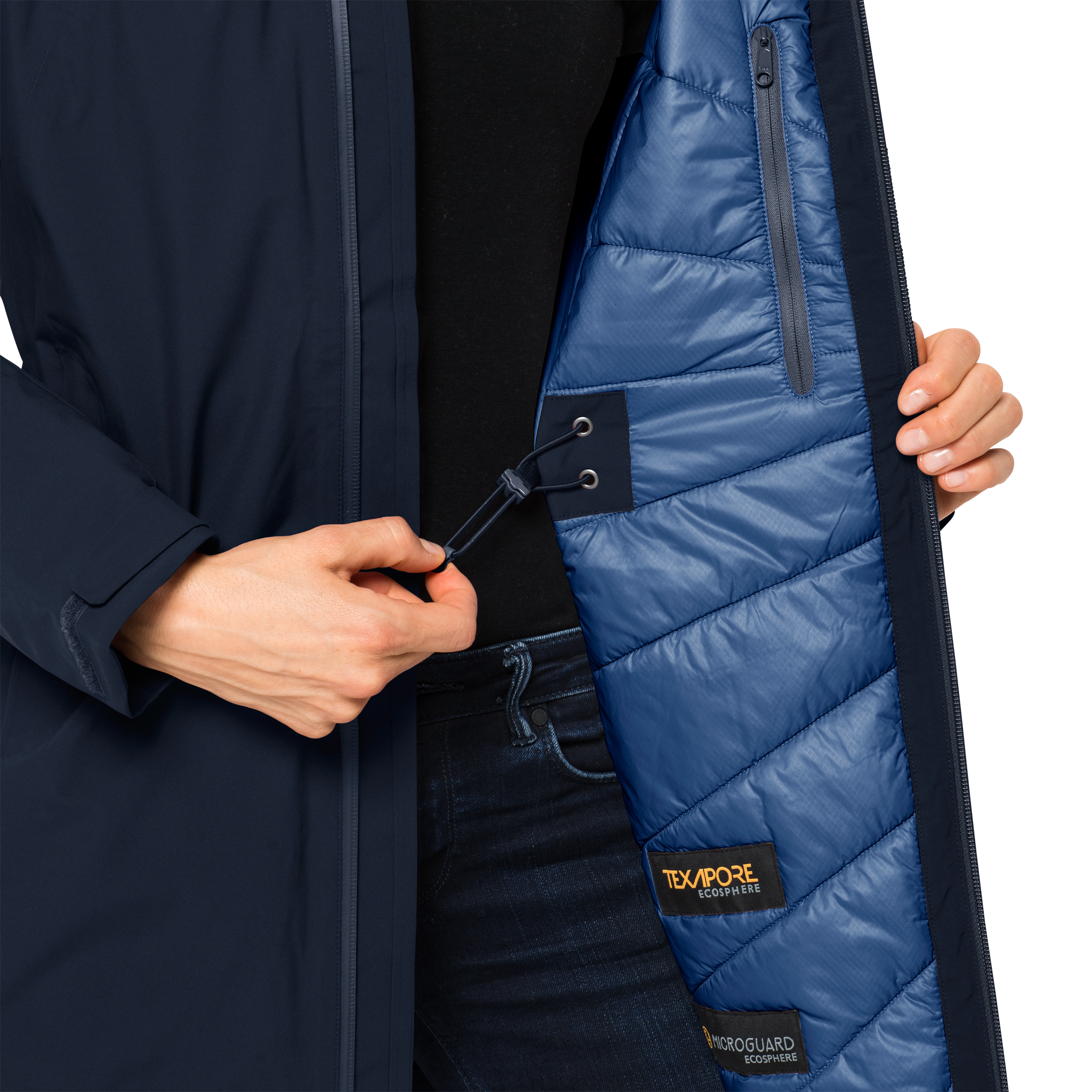 Midnight Blue Winter Hardshell Coat Women