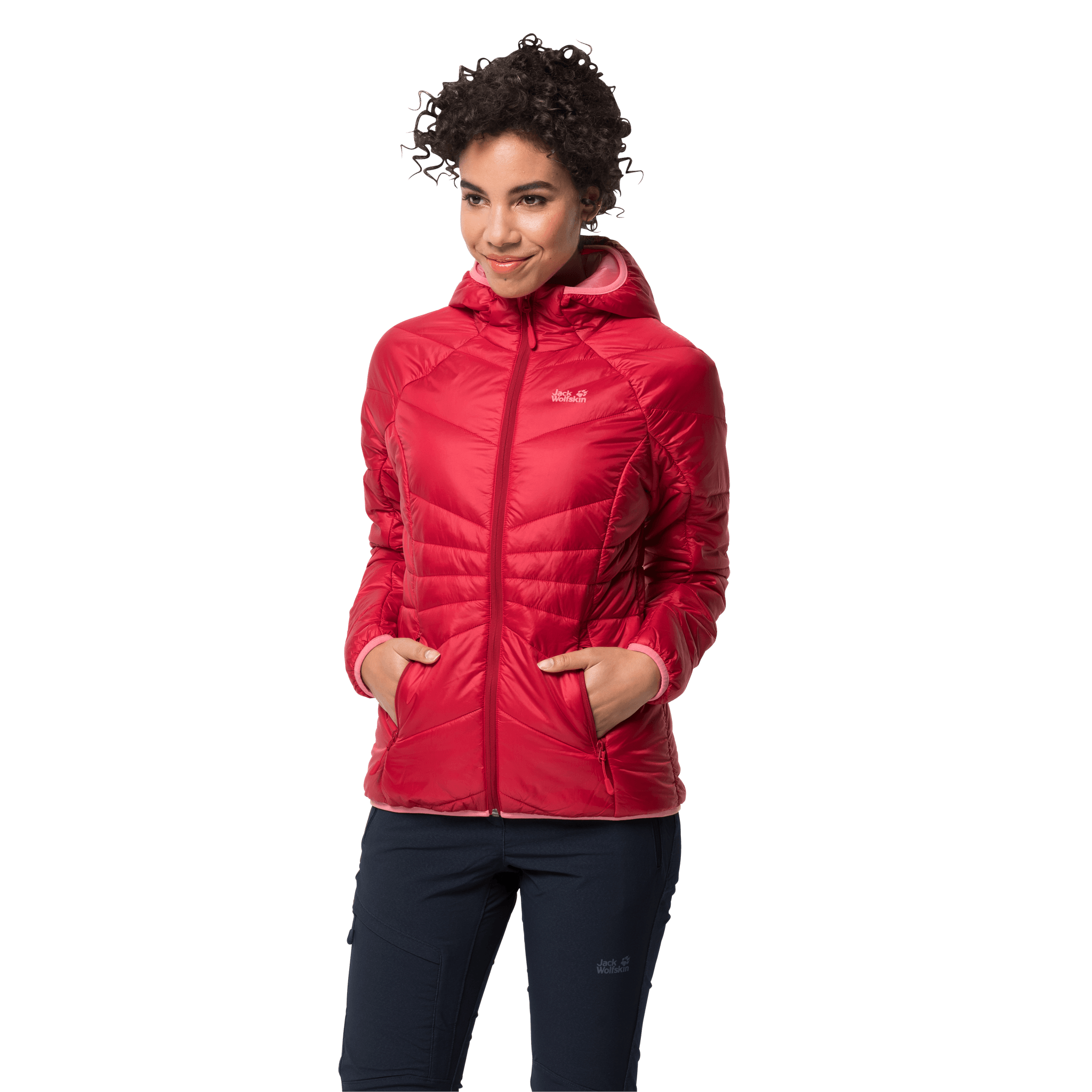 Clear Red Windproof Insulated Jacket Women