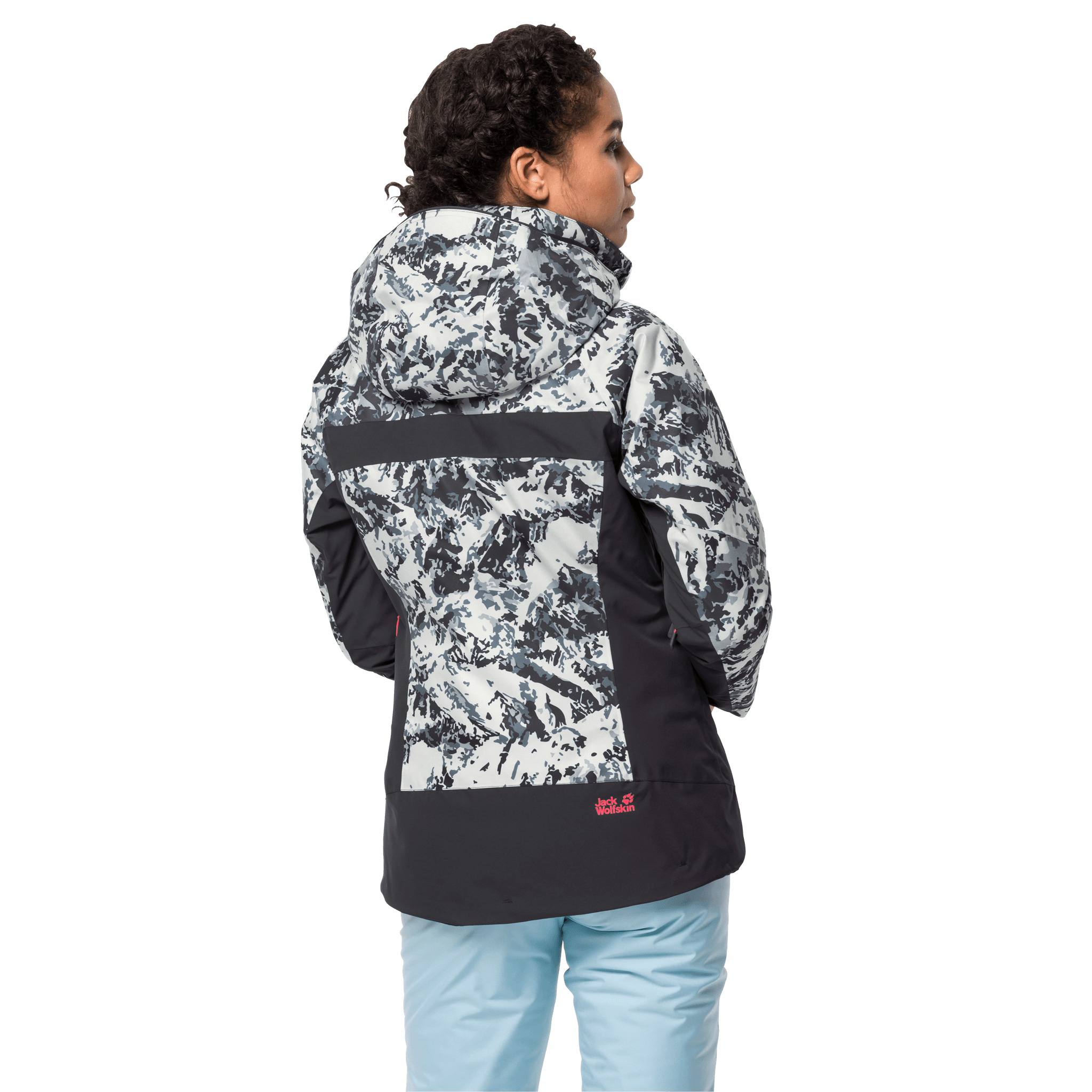 Ebony All Over Women'S Ski Jacket