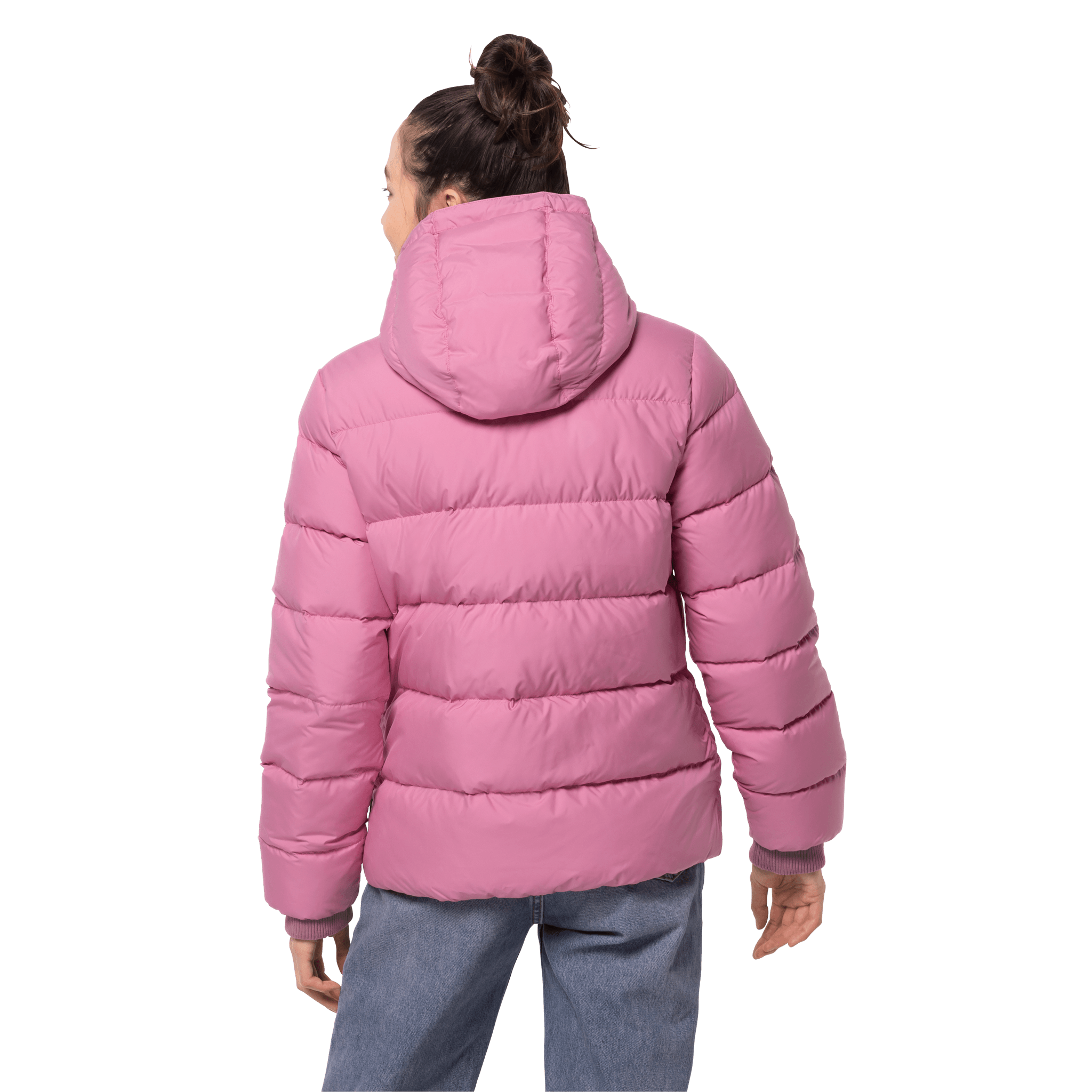 Dusty Pink Windproof Down Jacket Women