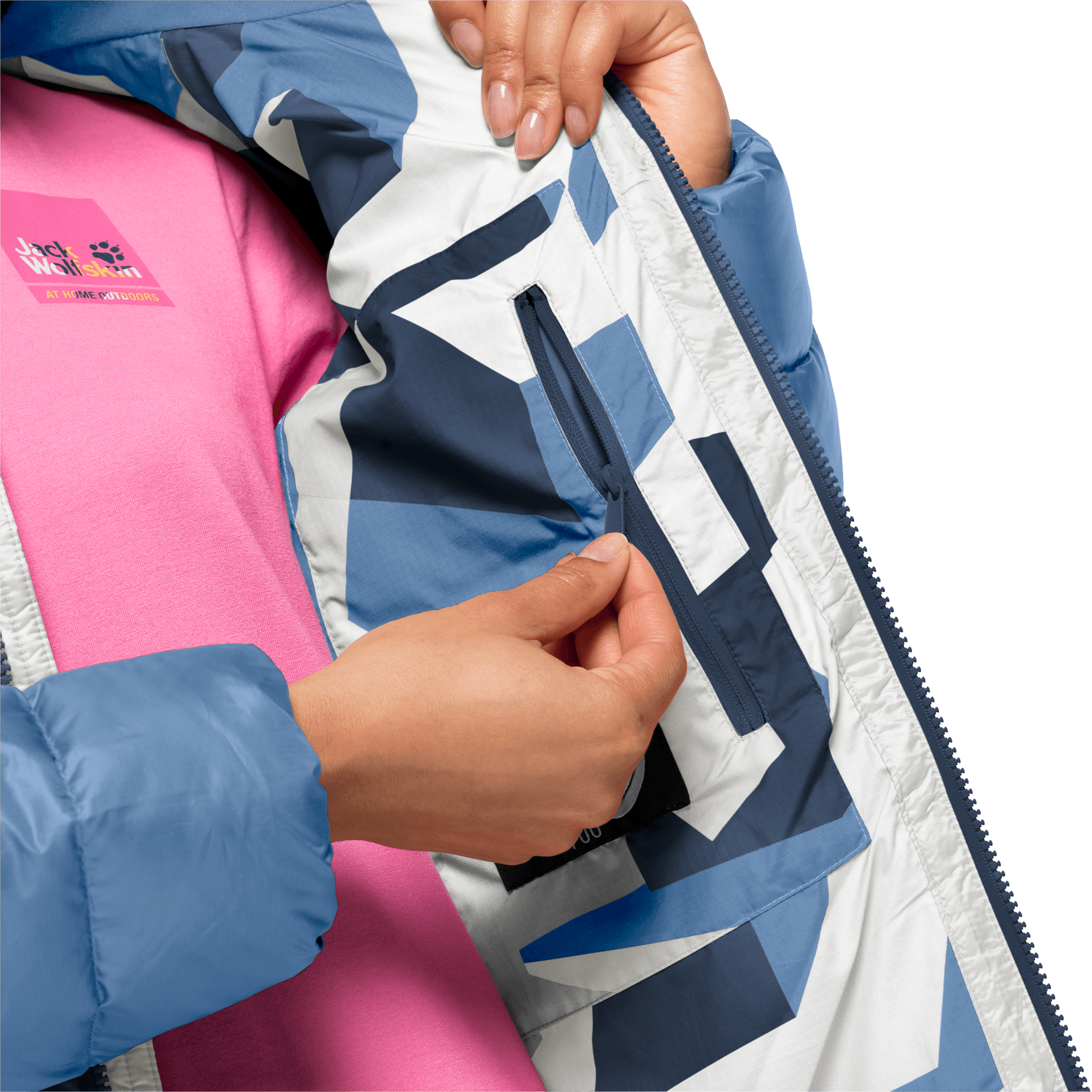 Dark Indigo Windproof Down Jacket Women