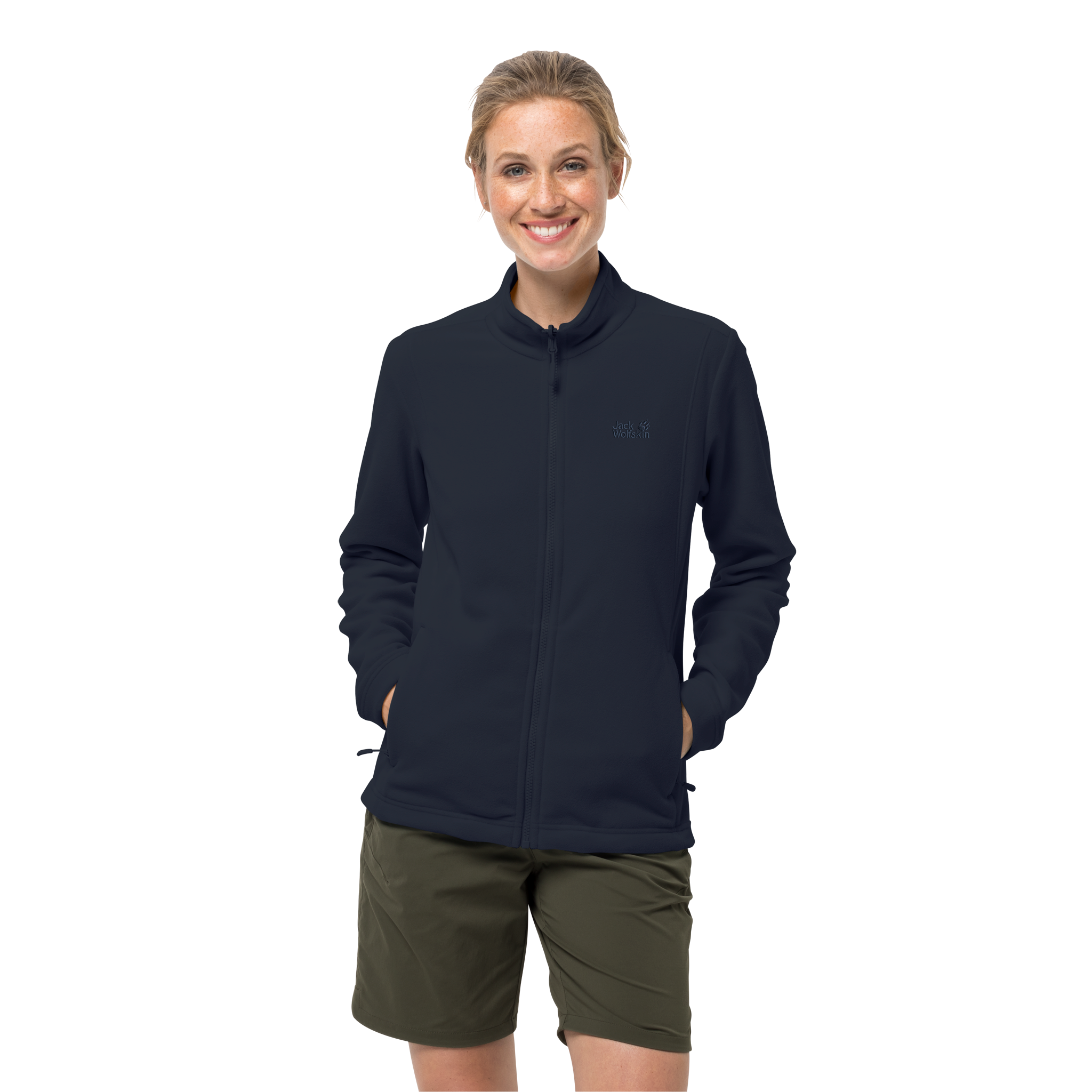 Midnight Blue Lightweight Fleece Jacket