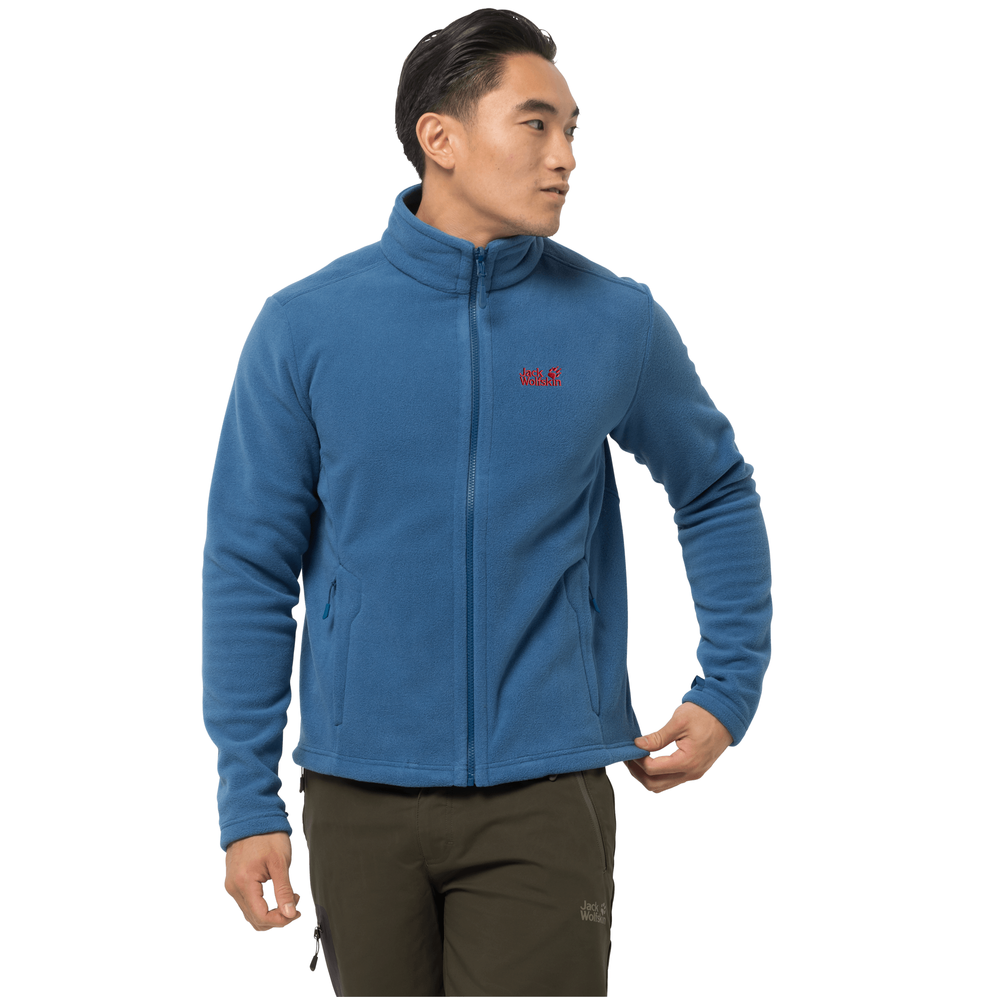 Indigo Blue Fleece Jacket Men
