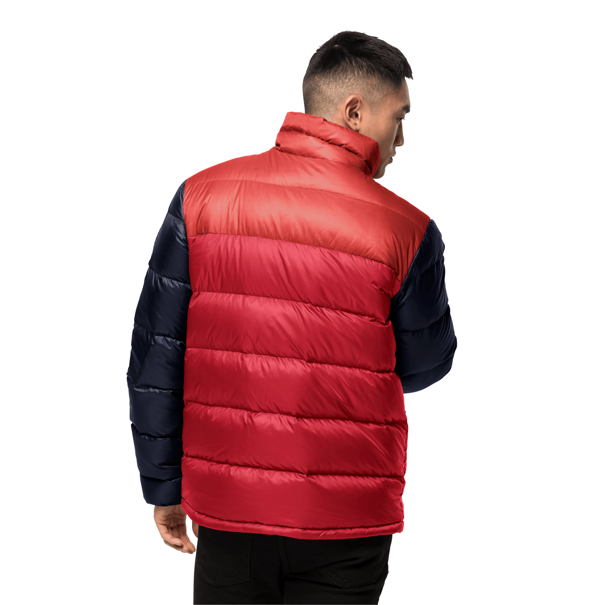 Red Lacquer Windproof Down Jacket Men
