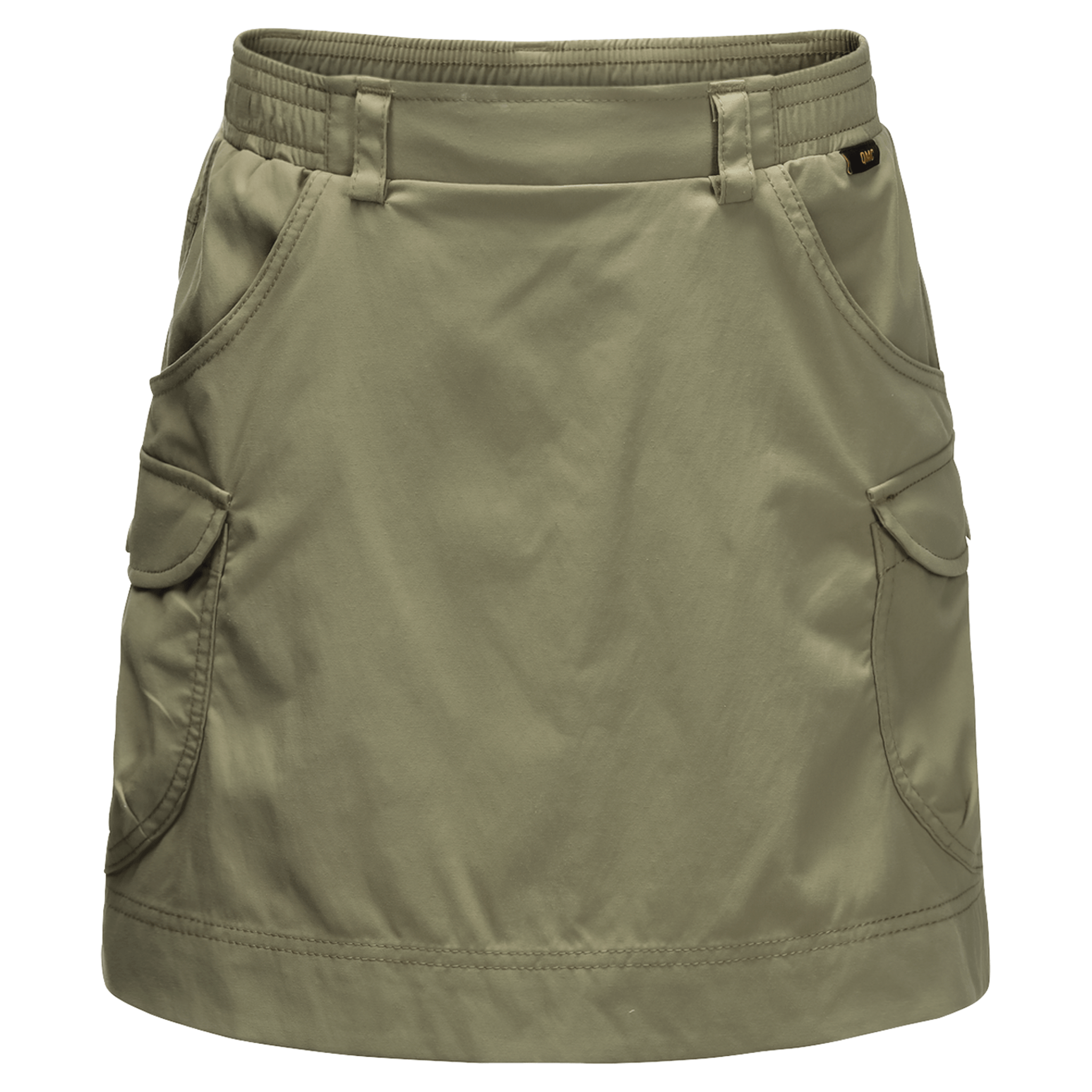 Khaki Lightweight Travel Skort