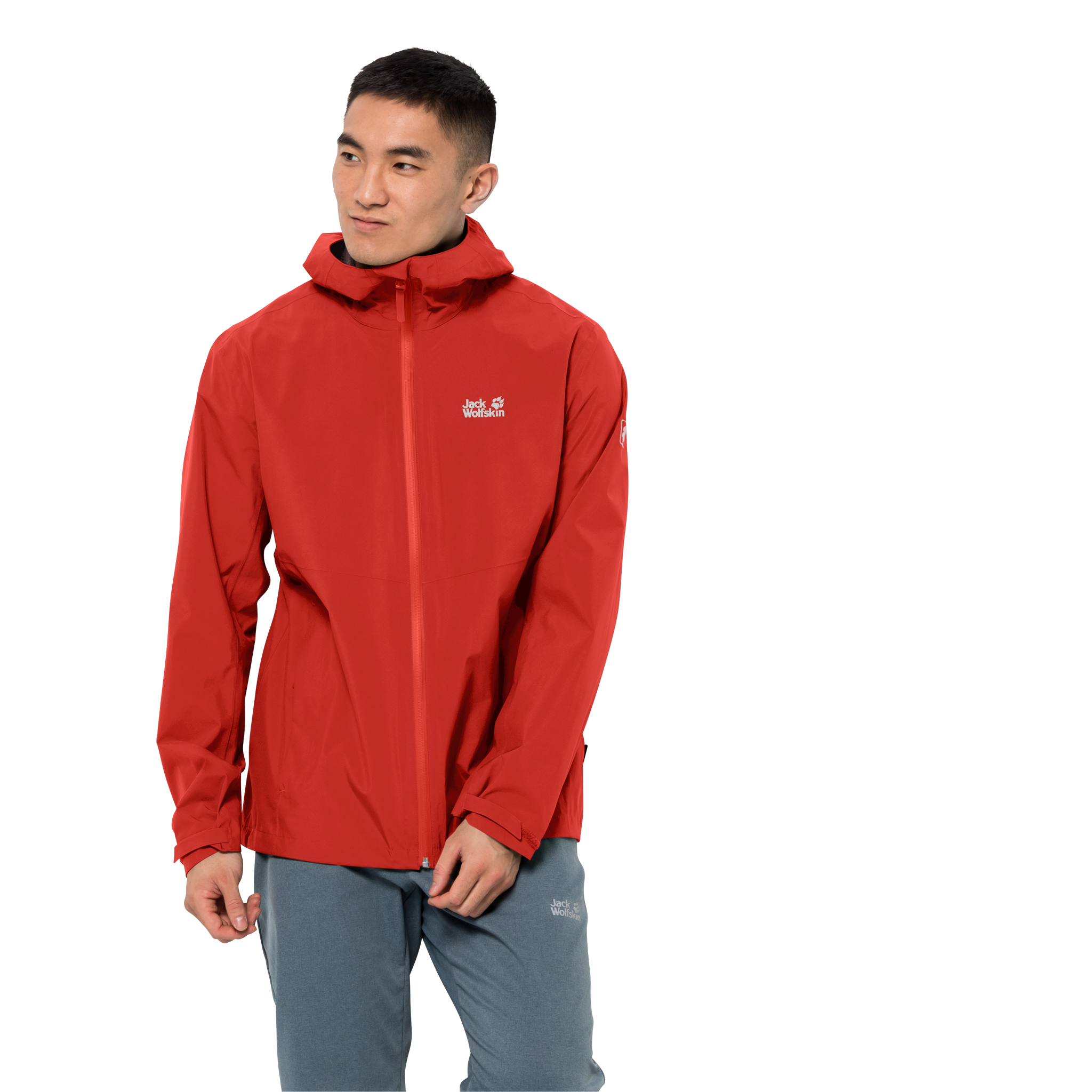 Lava Red Ultralight And Packable Jacket Men
