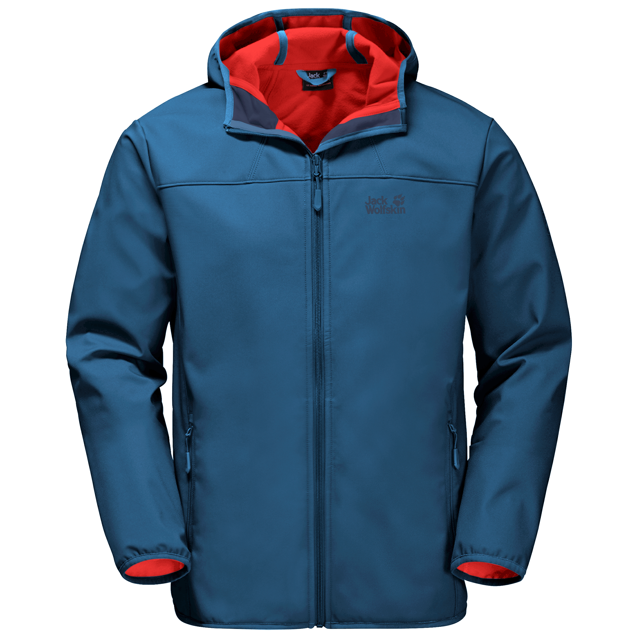 Indigo Blue Mens Windproof Softshell Jacket