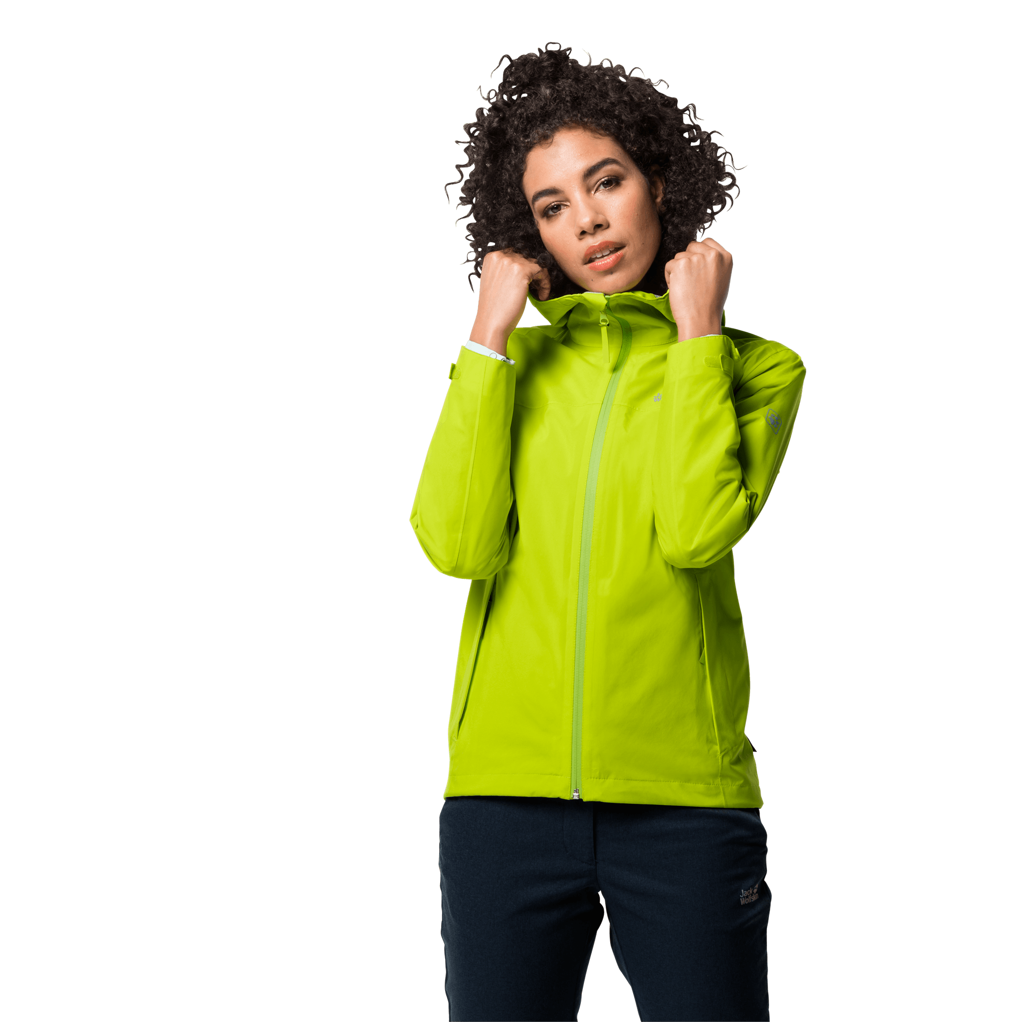 Bright Lime Ultralight And Packable Jacket Women
