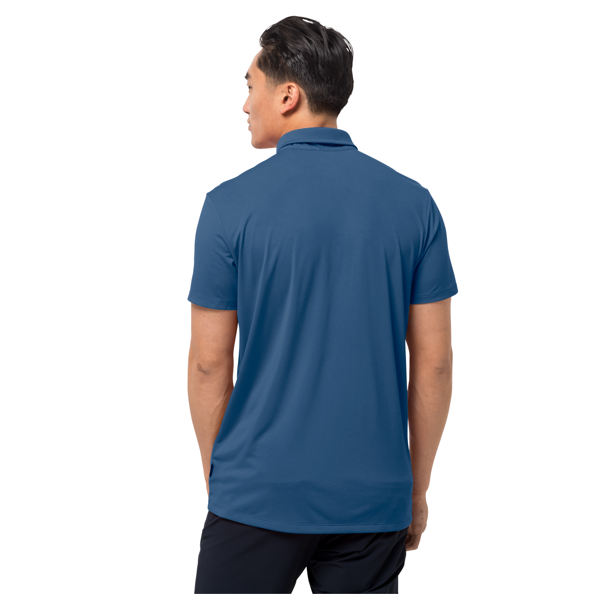 Indigo Blue Lightweight Polo Shirt Men