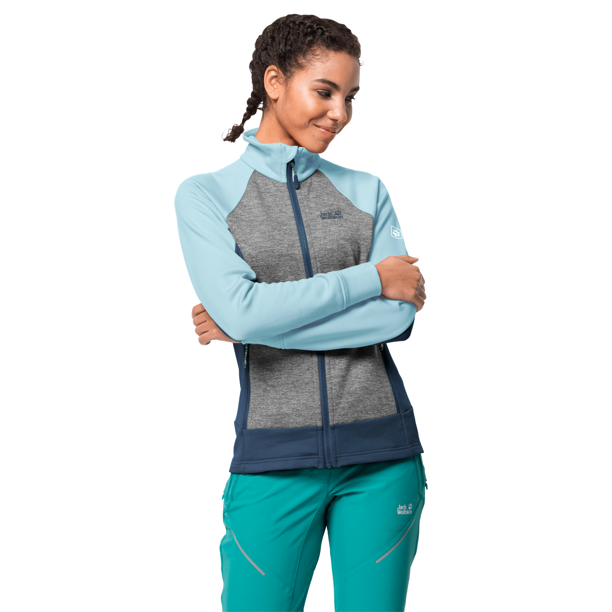 Frosted Blue Hiking Jacket Women