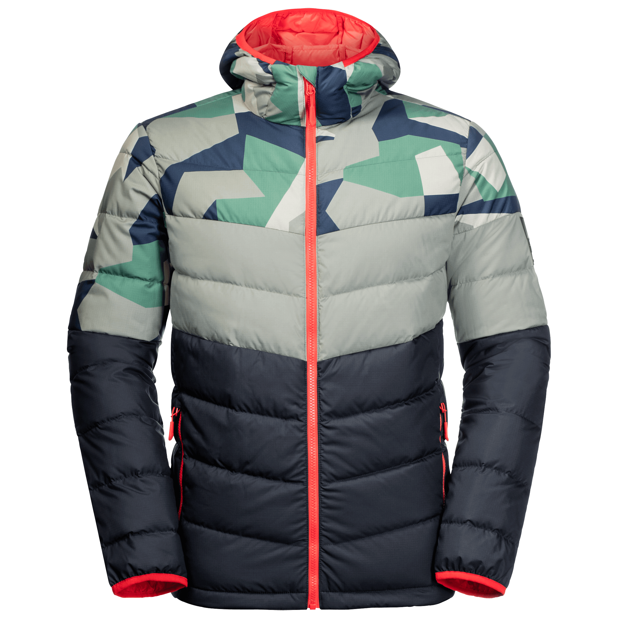 Night Blue All Over Windproof Down Jacket Men