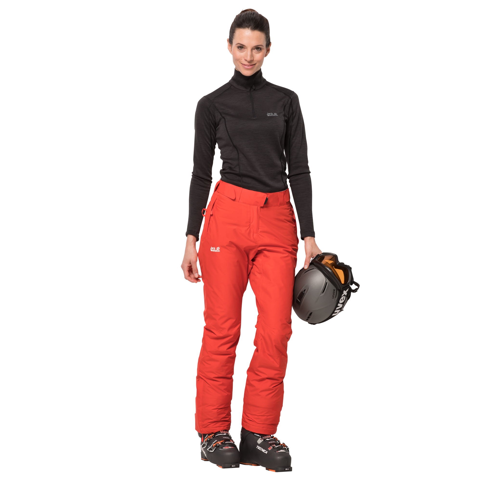 Orange Coral Ski Pants Women