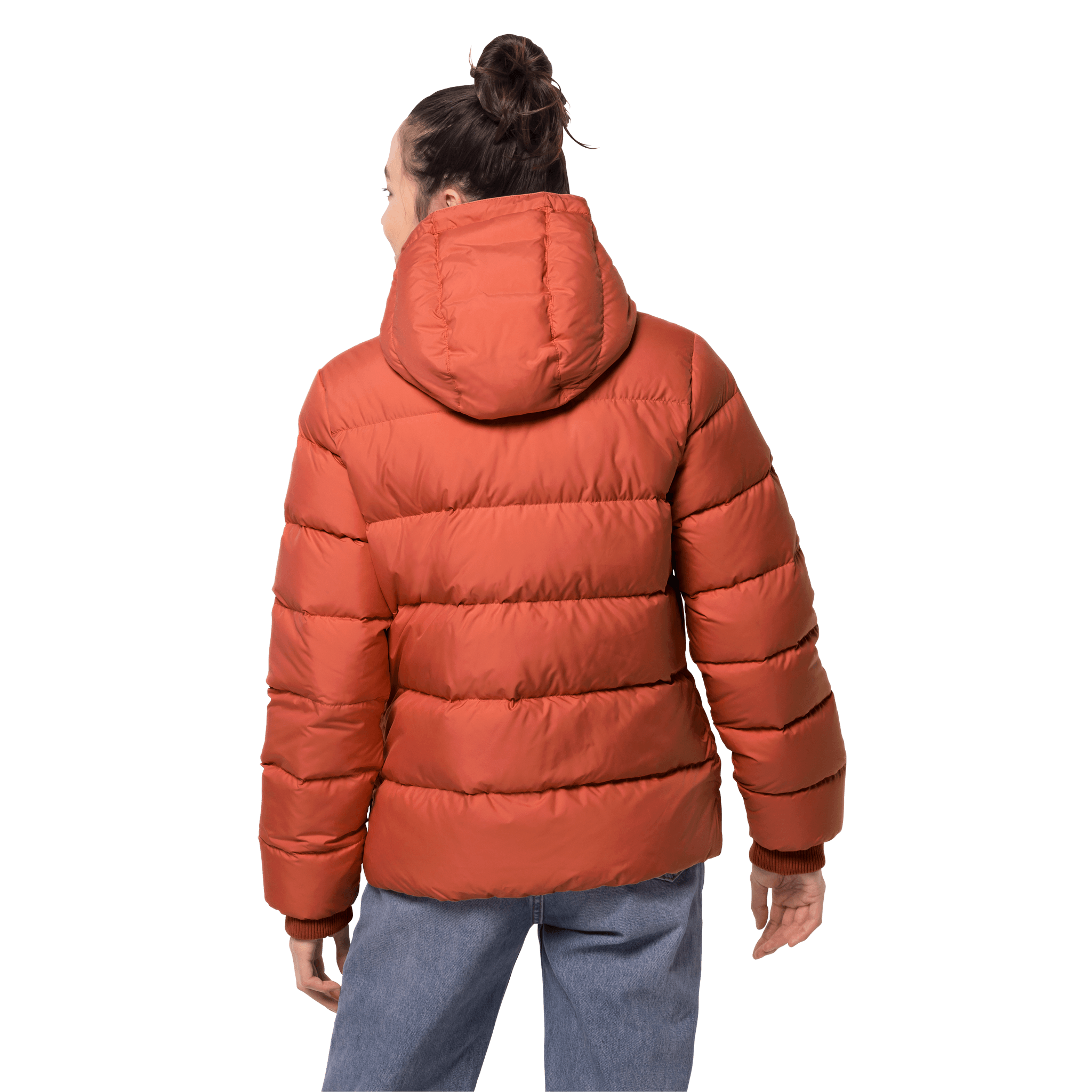 Saffron Orange Windproof Down Jacket Women