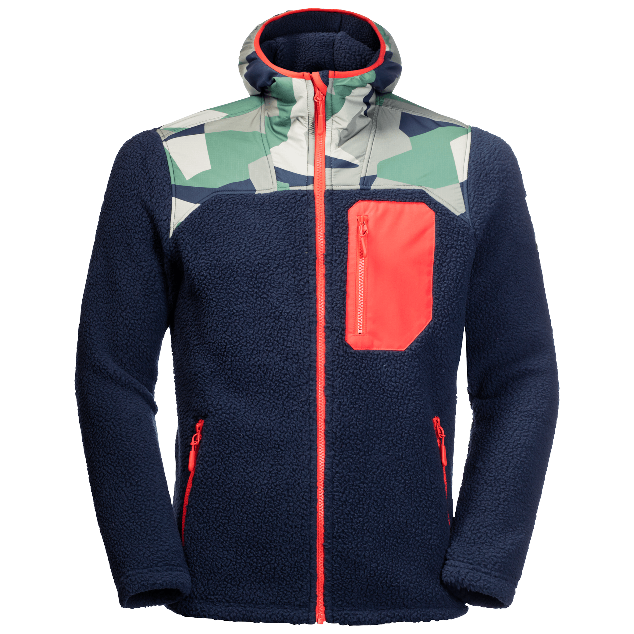 Night Blue Midweight Fleece Jacket