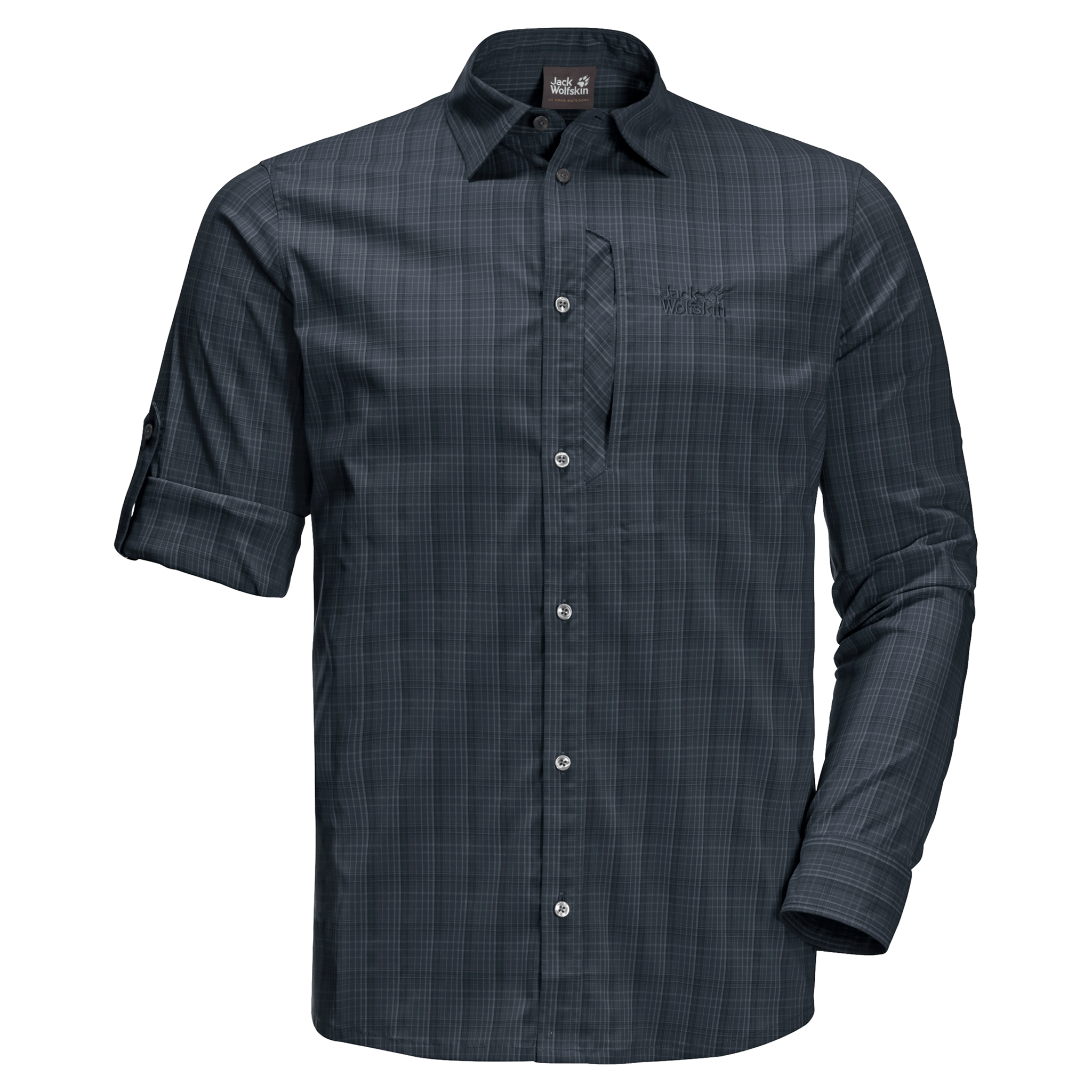 Night Blue Checks Athletic T-Shirt Men