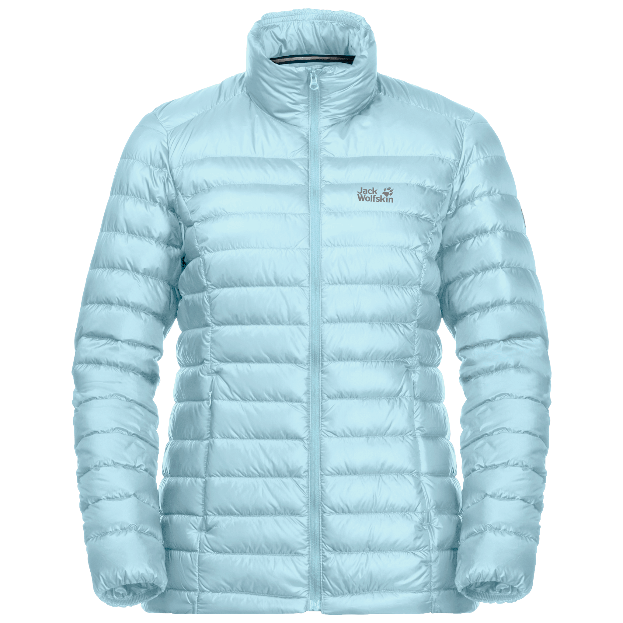 Frosted Blue Windproof Down Jacket Women