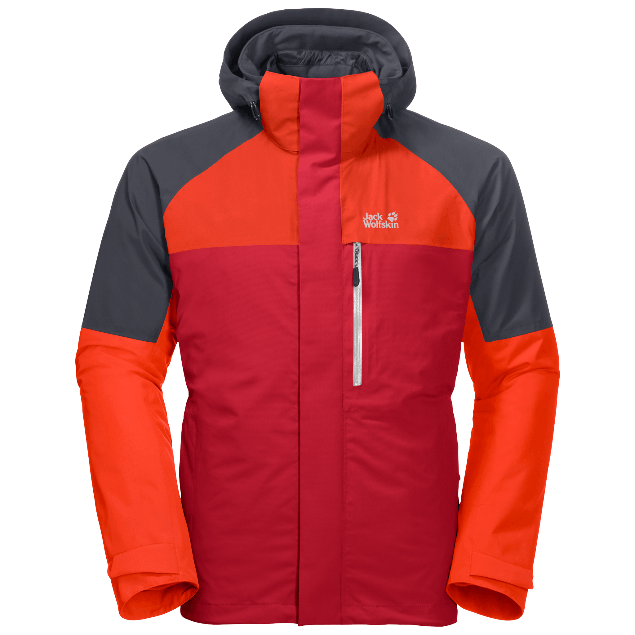 Red Lacquer 3-In-1 Jacket Men