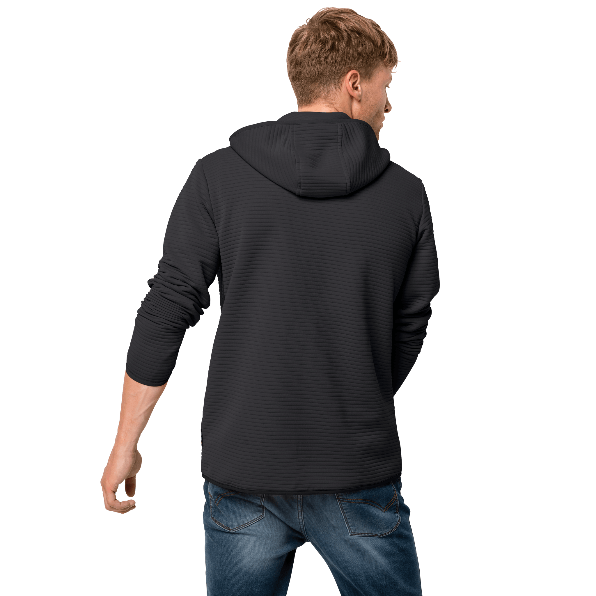 Black Lightweight Travel Fleece Jacket
