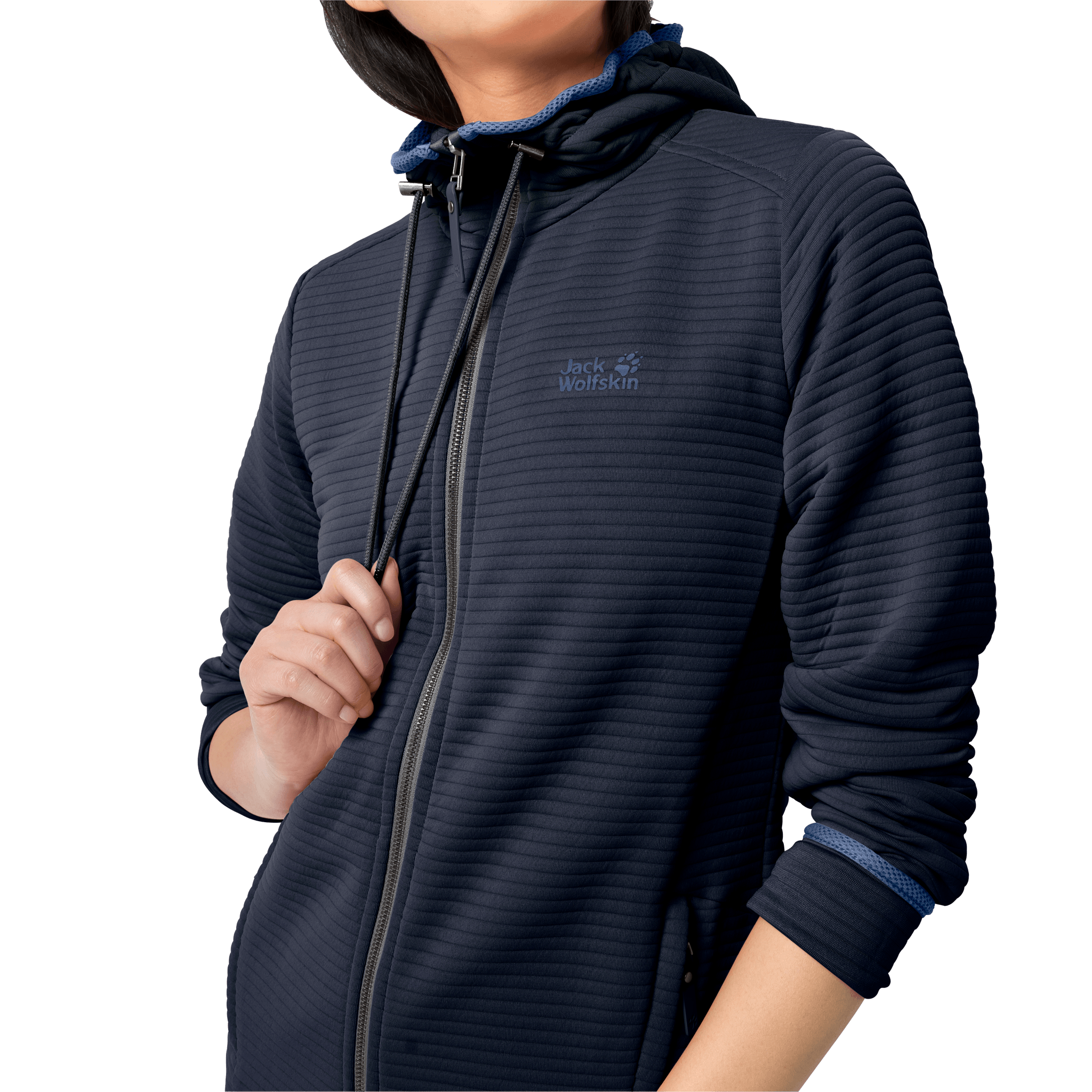 Midnight Blue Lightweight Travel Fleece Jacket