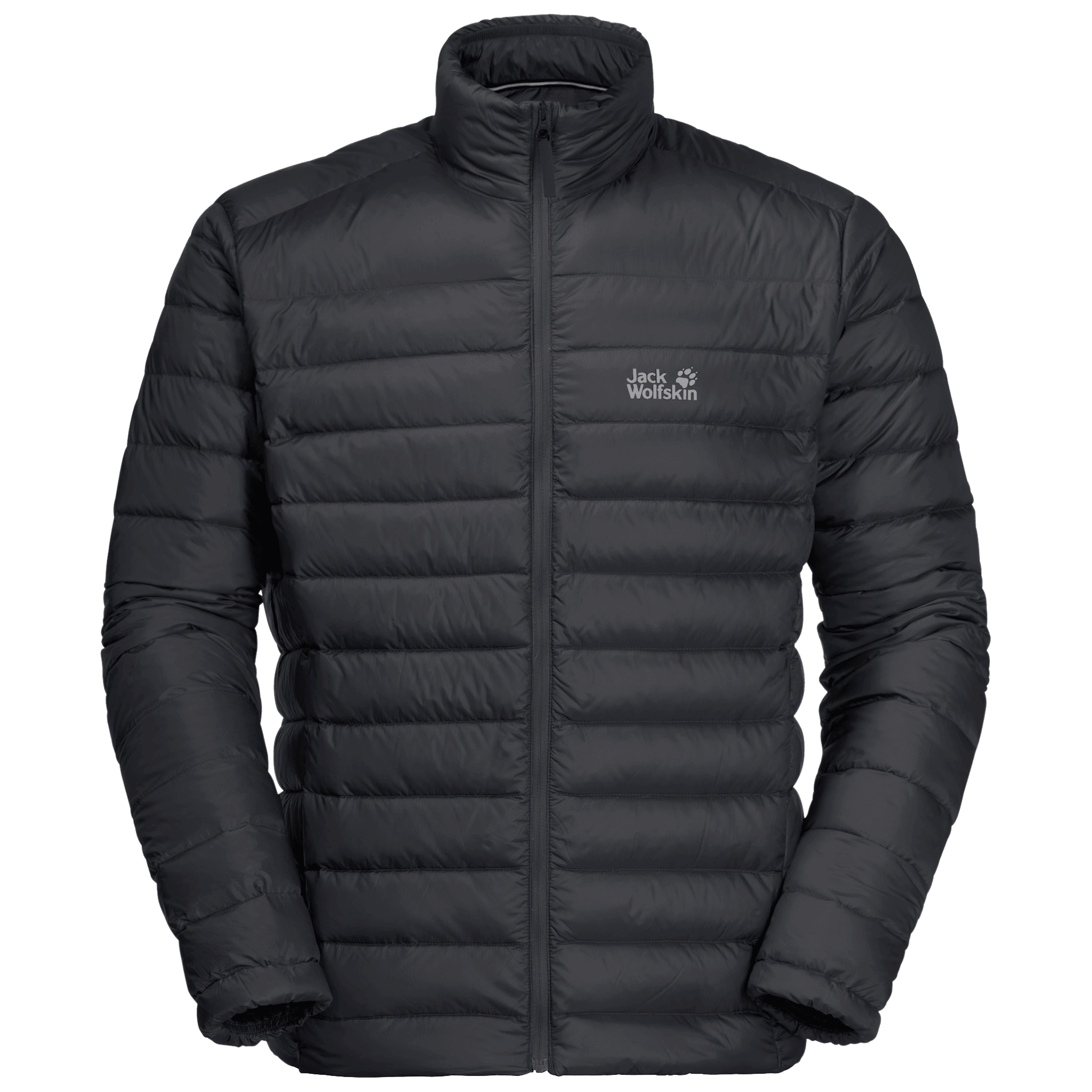 Black Windproof Down Jacket Men