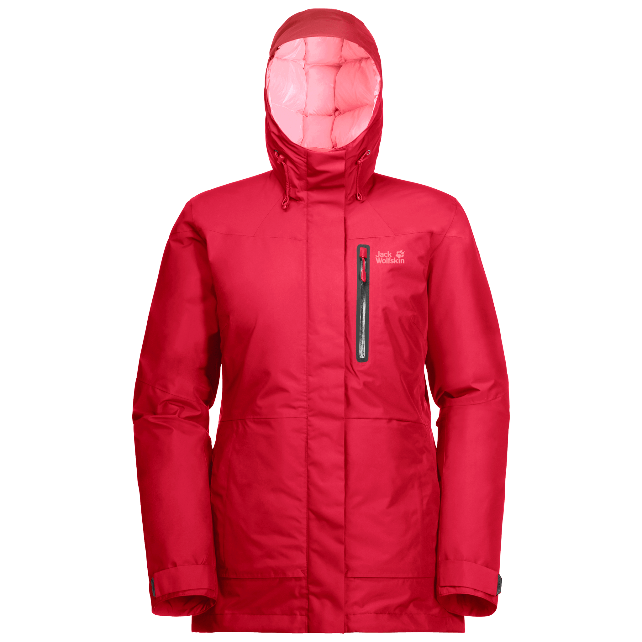 Clear Red Winter Parka Women
