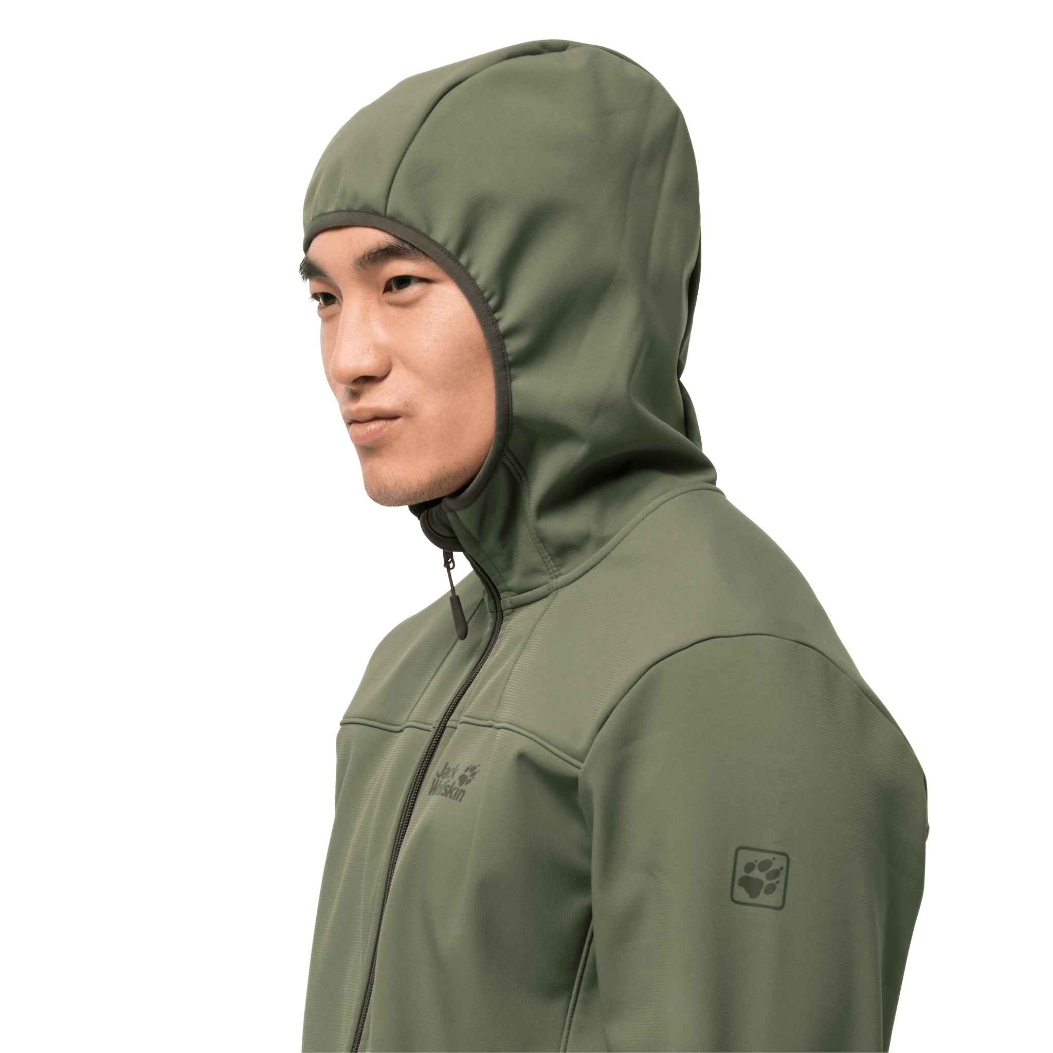 Light Moss Mens Windproof Softshell Jacket