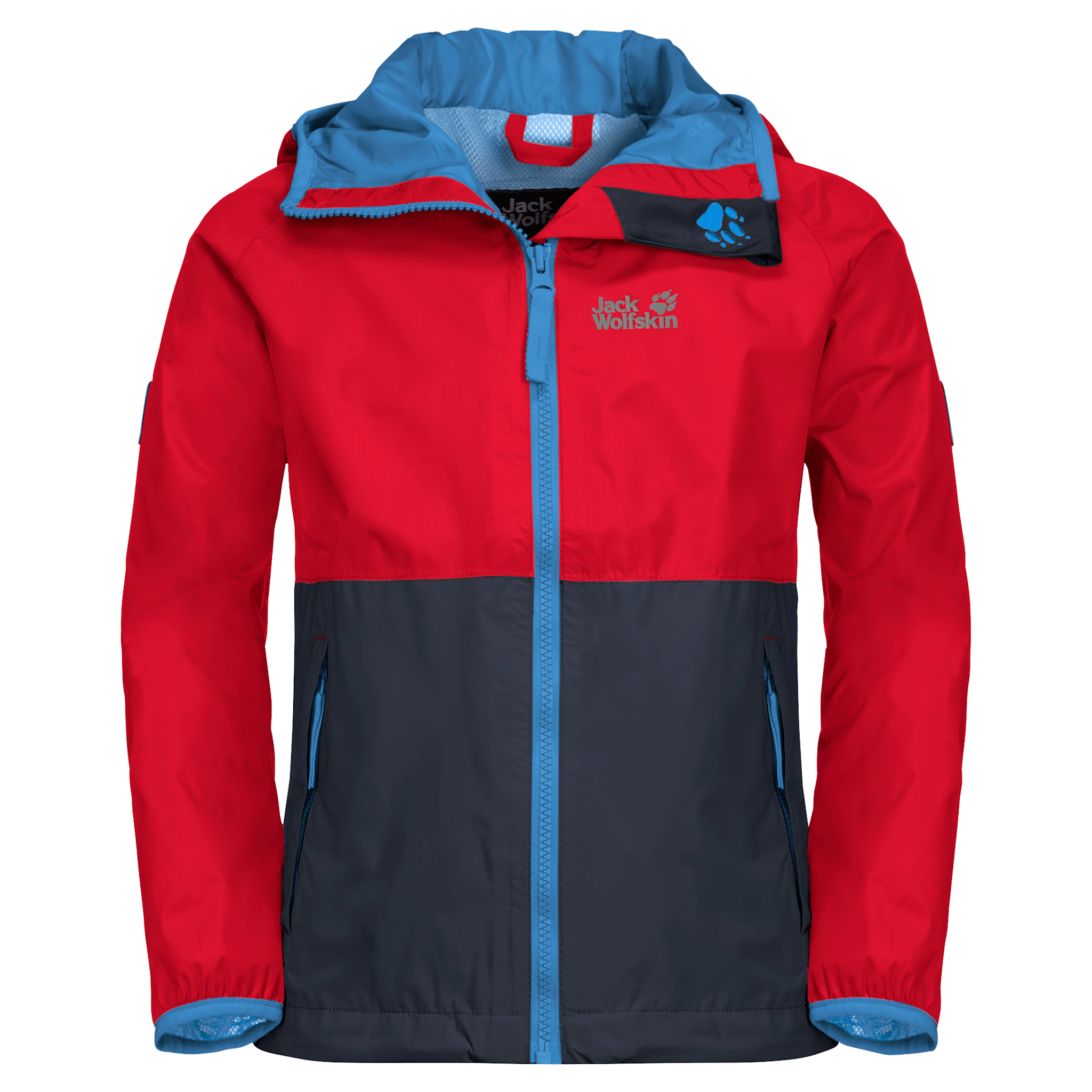 Peak Red Kids' Rain Jacket
