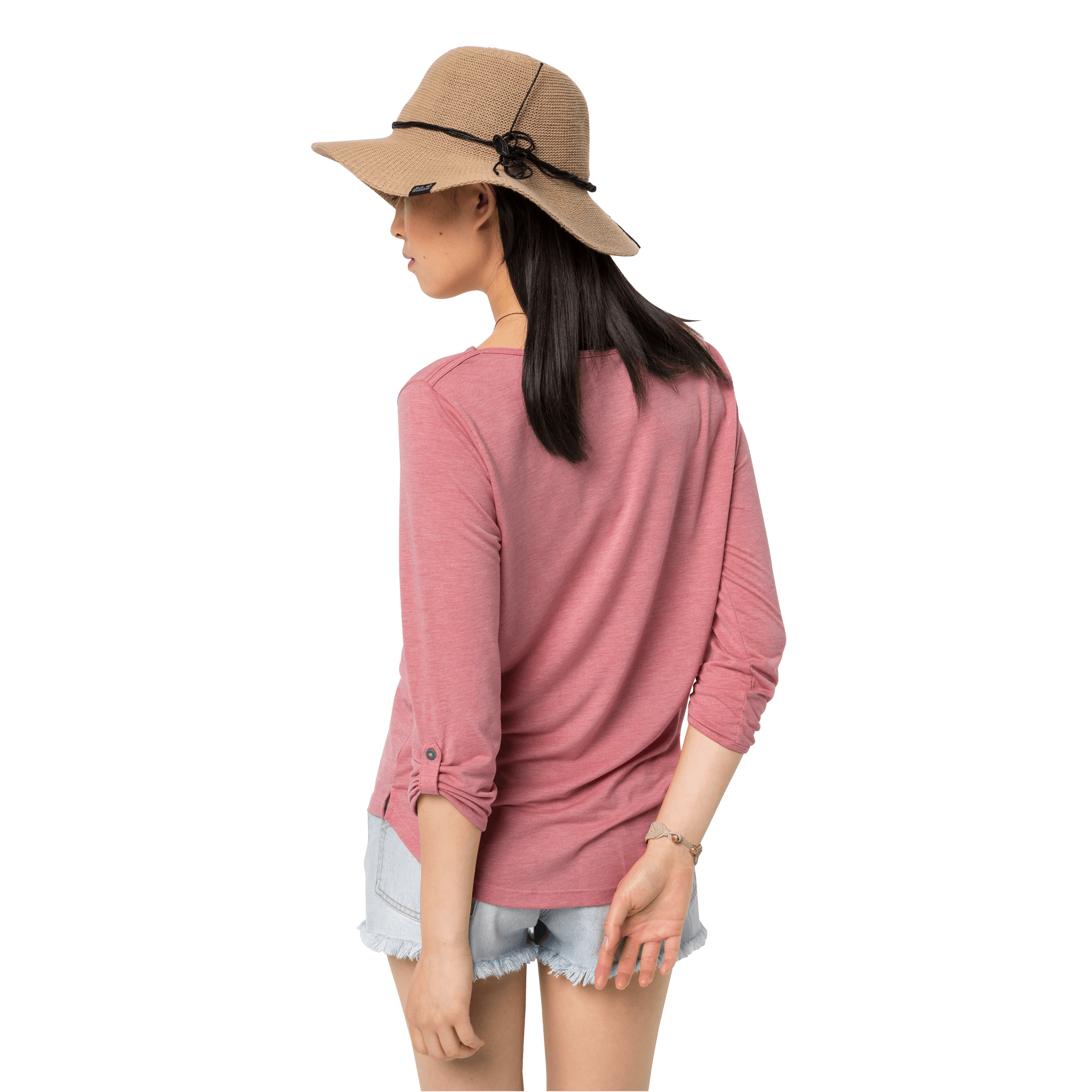 Rose Quartz Lightweight Casual 3/4 Sleeve