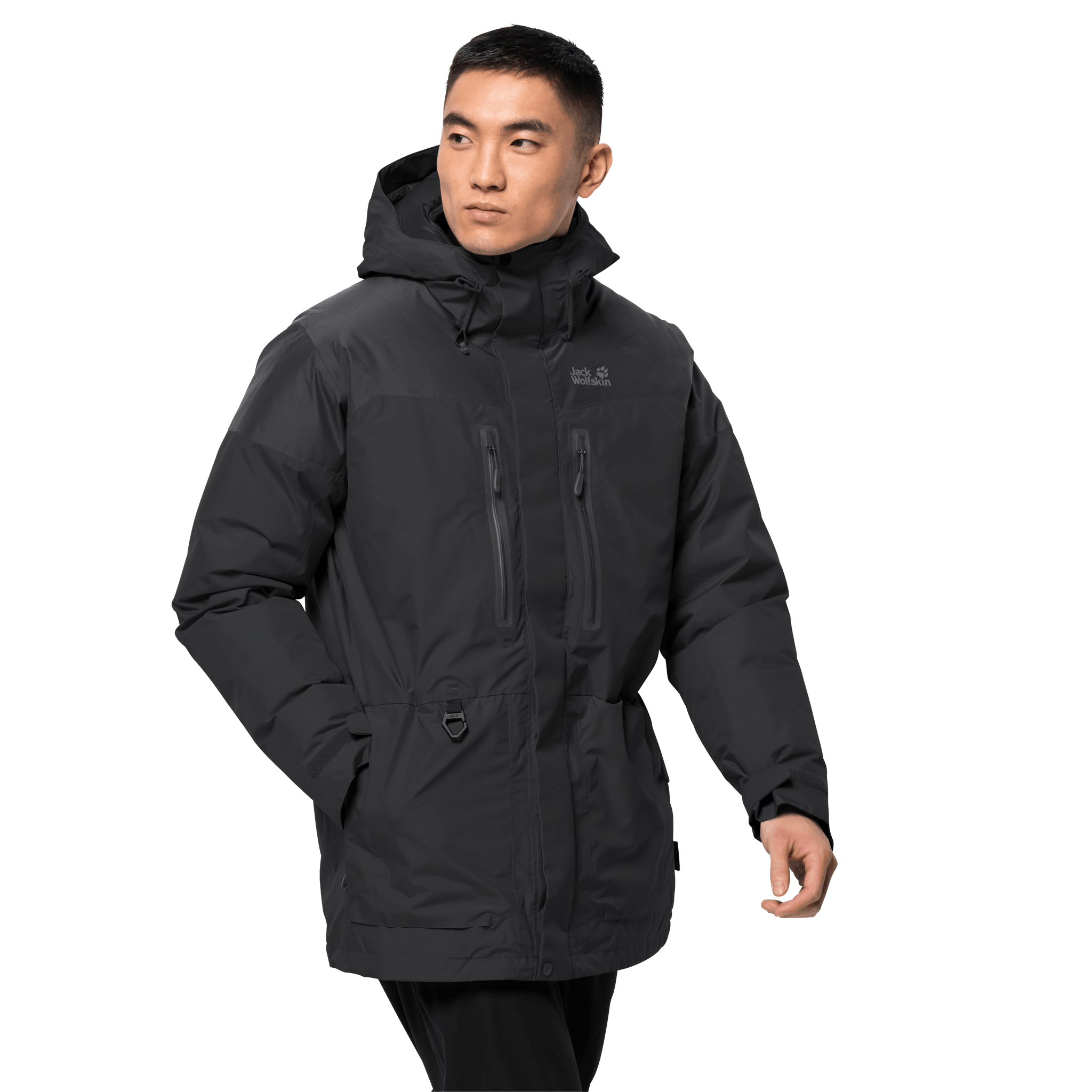 Black Winter Parka Men