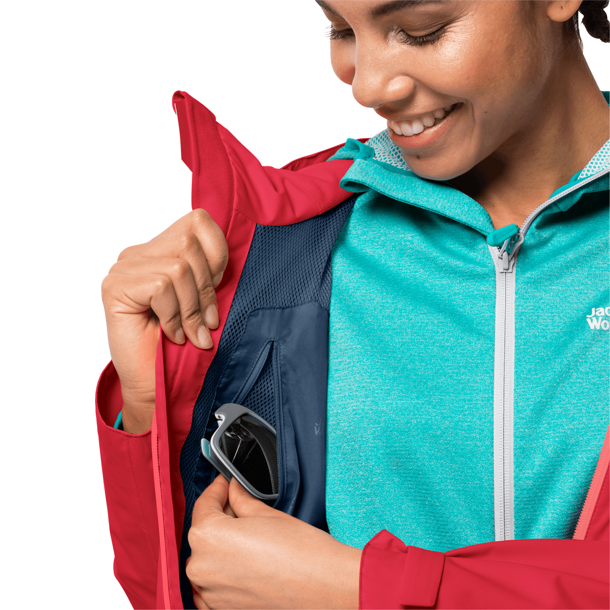 Tulip Red Waterproof Hiking Jacket