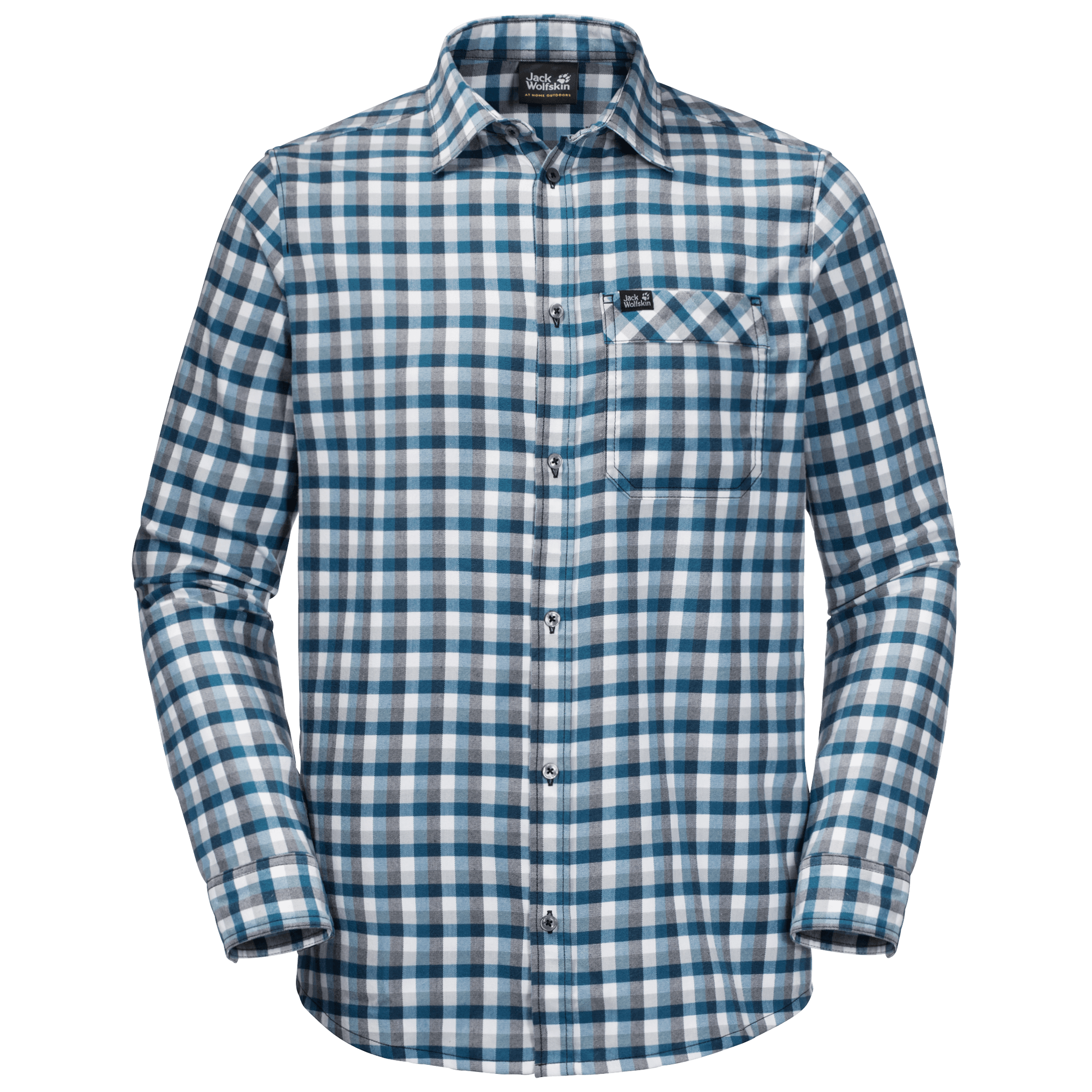 Night Blue Checks Flannel Shirt Men