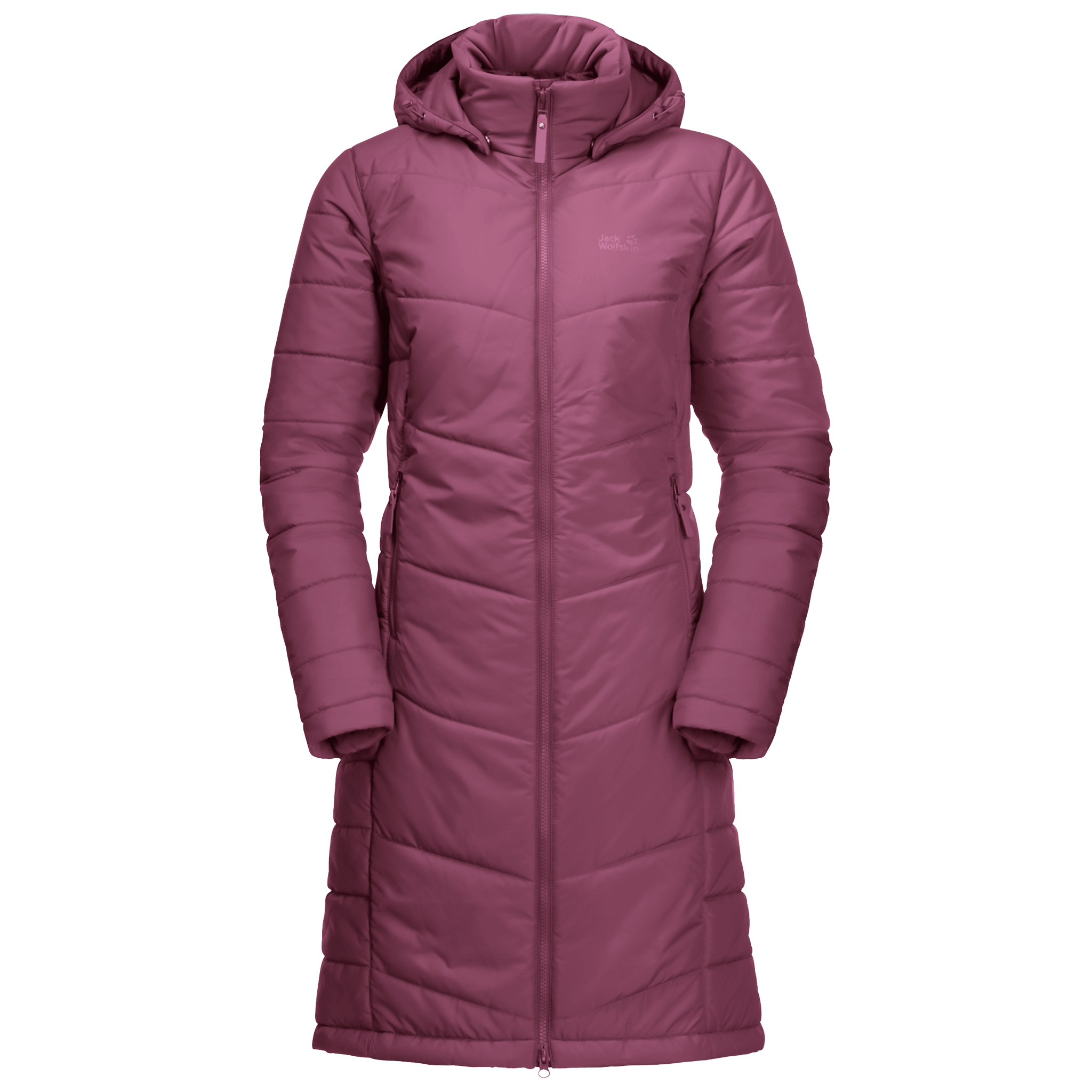 Violet Quartz Windproof Quilted Coat Women