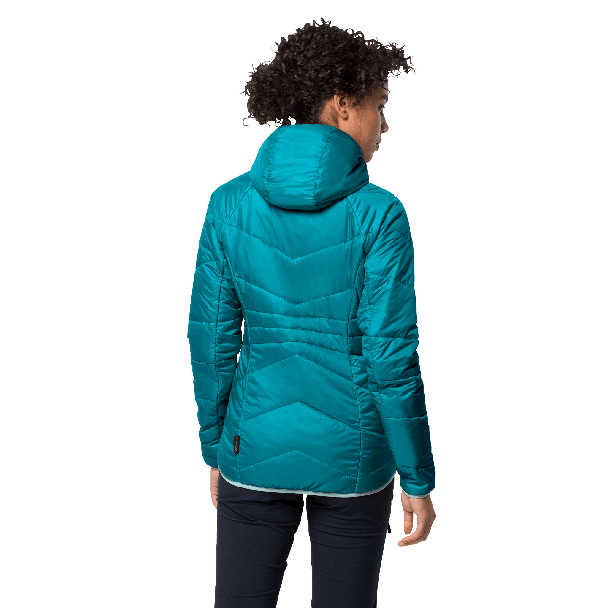 Dark Cyan Windproof Insulated Jacket Women