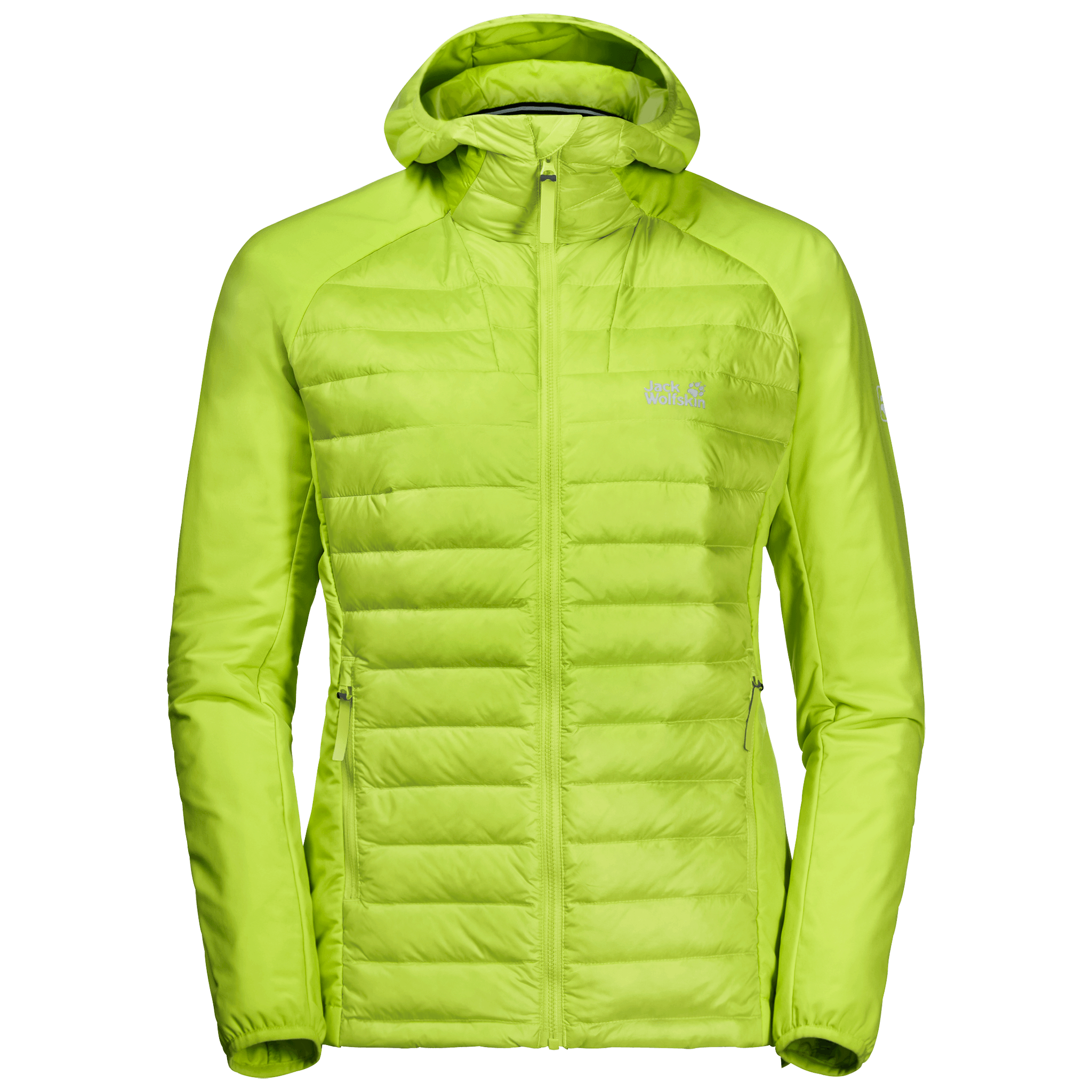 Bright Lime Hybrid Down Jacket Women