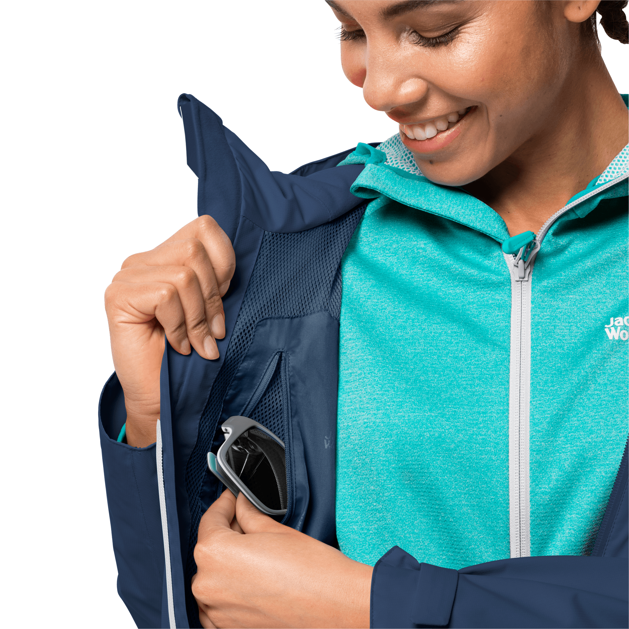 Dark Indigo Waterproof Hiking Jacket