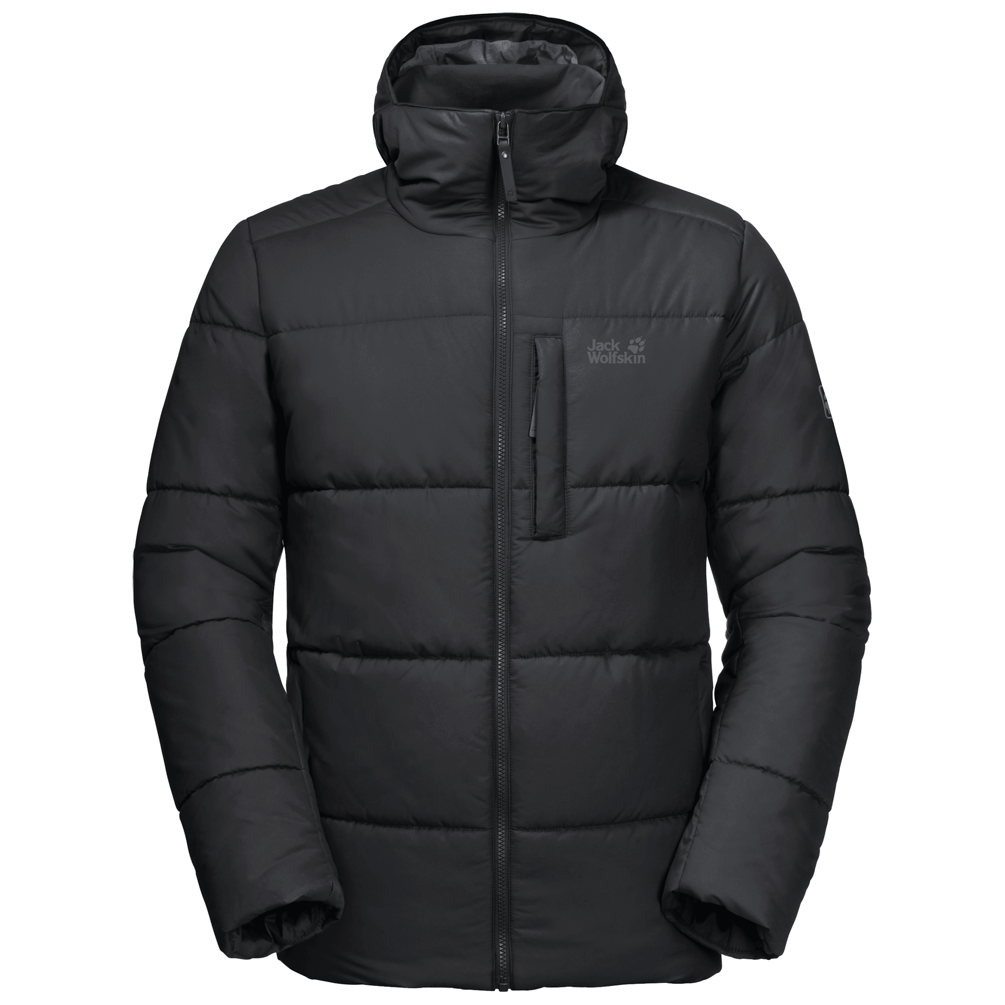 Black Windproof Insluated Jacket Men