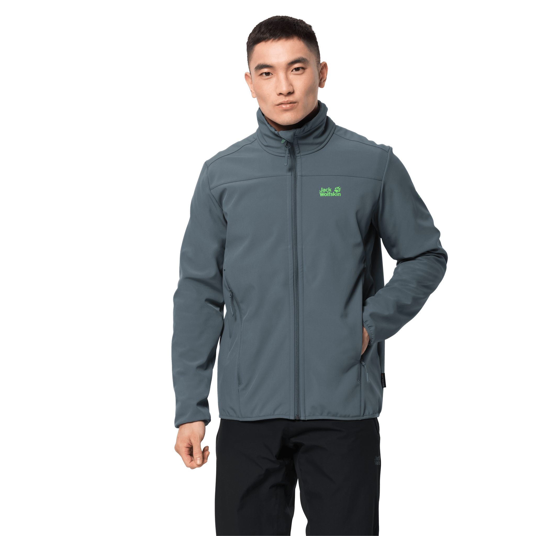 Storm Grey Windproof Softshell Jacket Men