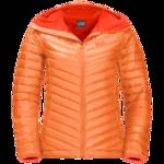 Paradise Orange Windproof Down Jacket Women