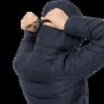 Midnight Blue Windproof Down Coat Women