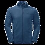 Indigo Blue Stripes Quick Drying Fleece