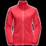 Tulip Red Fleece Jacket Women