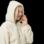White Sand Fleece Hoody Women