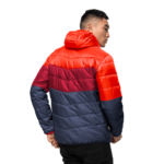 Red Lacquer Windproof Insulated Jacket Men