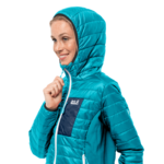 Dark Aqua Windproof Insulated Jacket Women