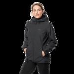 Black 3-In-1 Hardshell Jacket Women