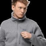 Slate Grey Fleece Jacket Men
