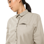 Dusty Grey Mosquito Protection Roll-Up Shirt
