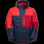 Fiery Red Windproof Insulated Jacket Men